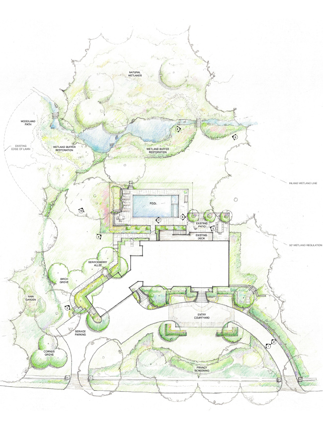 The LaurelRock Company - Residential Landscaping in CT - Back Country Manor - Design Plan