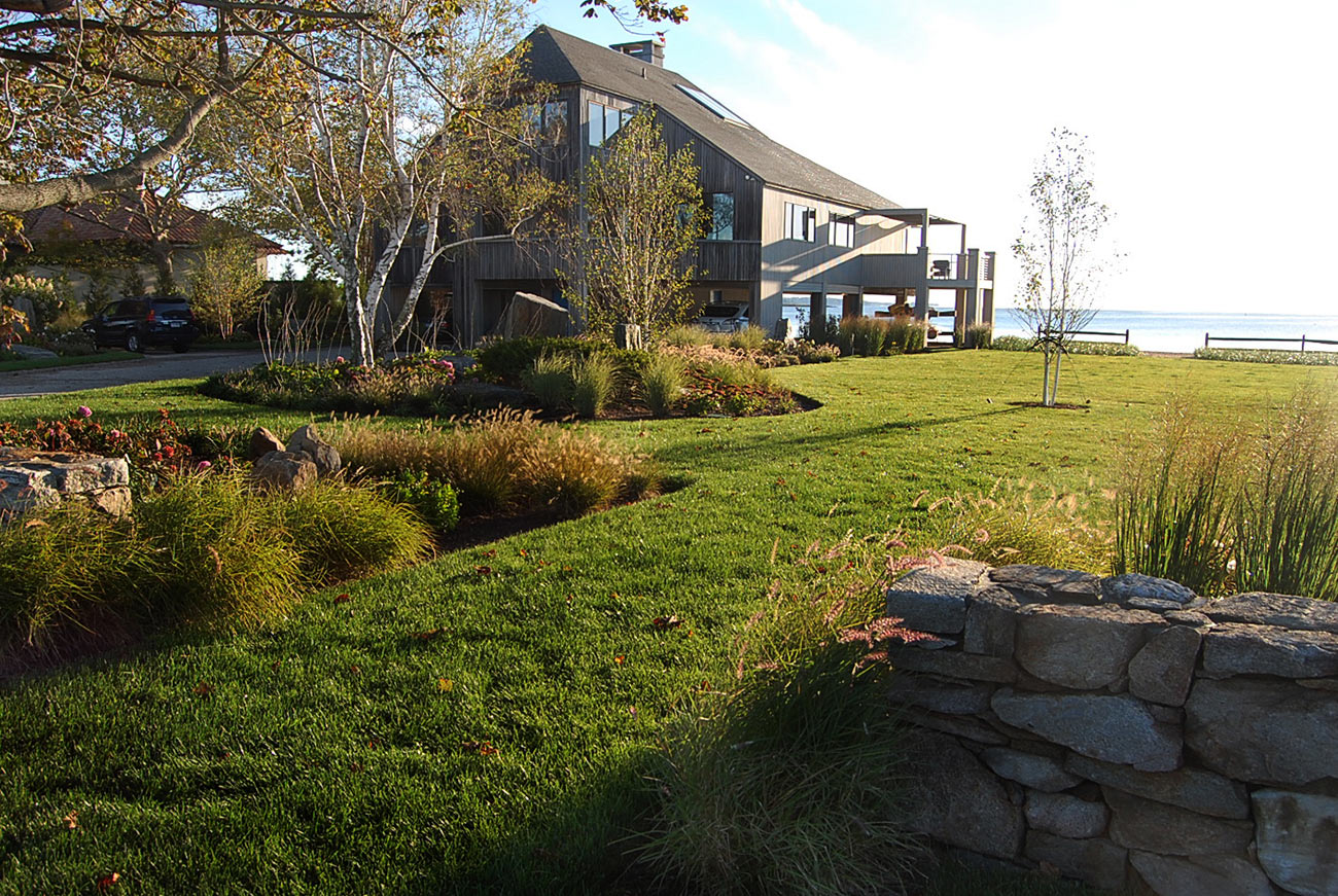 The LaurelRock Company - Residential Landscaping in CT - Bluff Point - Oceanfront Landscaping
