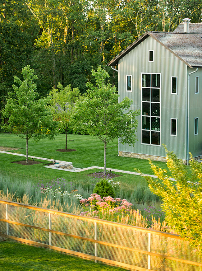 The LaurelRock Company - Residential Landscaping in Wilton CT - High Meadow Farm - Multi-Level Gardening