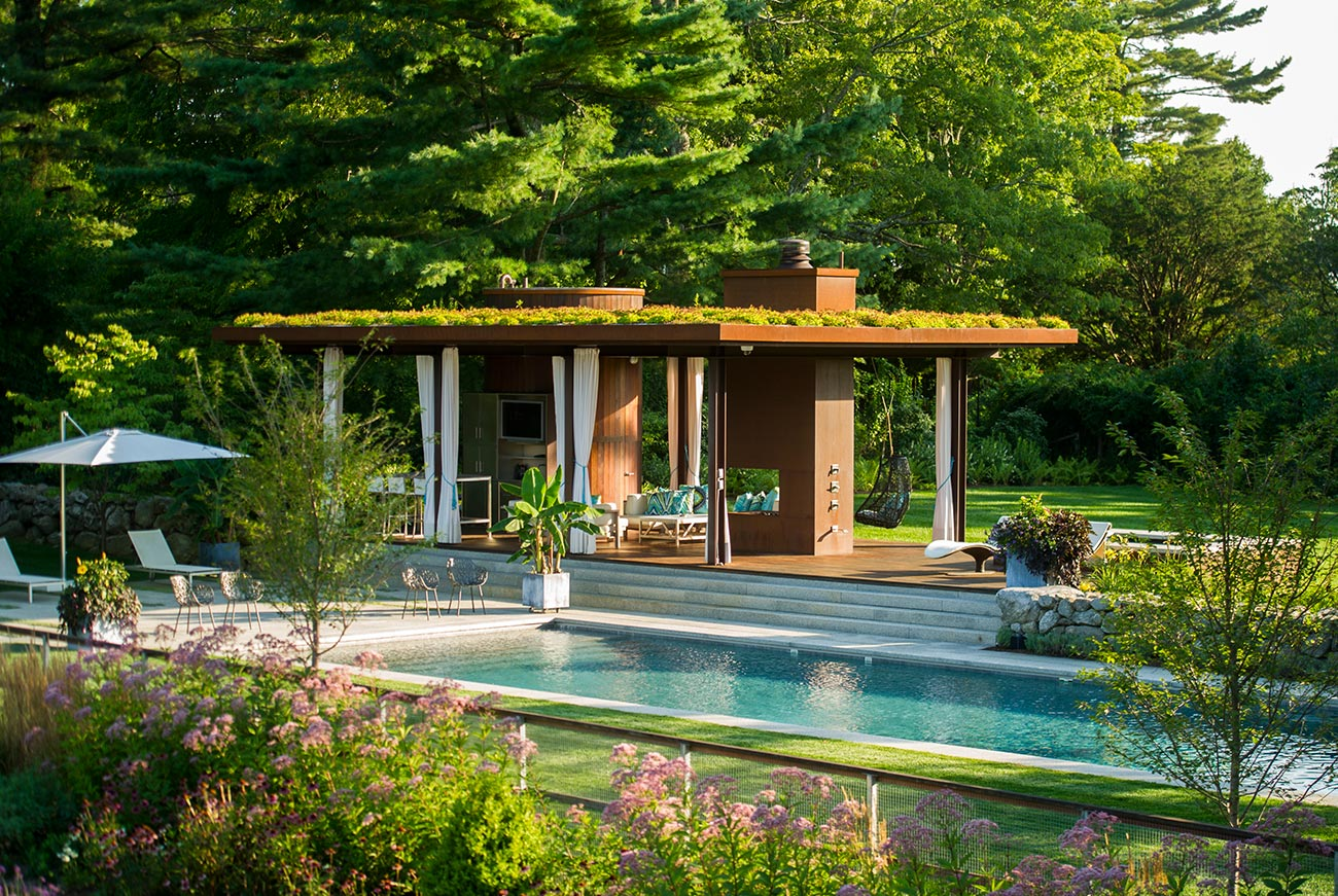 The LaurelRock Company - Residential Landscaping in Wilton CT - High Meadow Farm - Green Roof and Outdoor Living