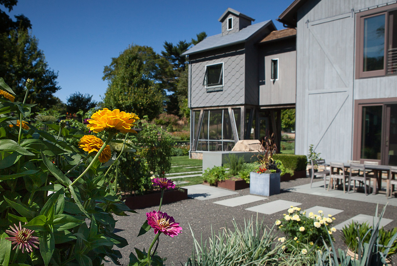 The LaurelRock Company - Residential Landscaping in Wilton CT - High Meadow Farm - Outdoor Living and Edible Garden