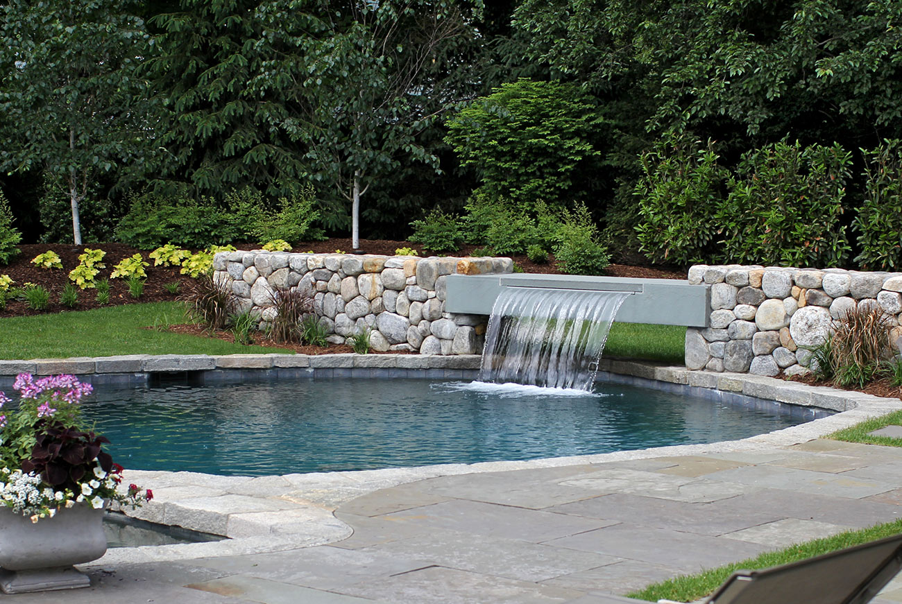 The LaurelRock Company - Residential Landscaping in CT - Hollow Tree Ridge - Pool and Water Feature