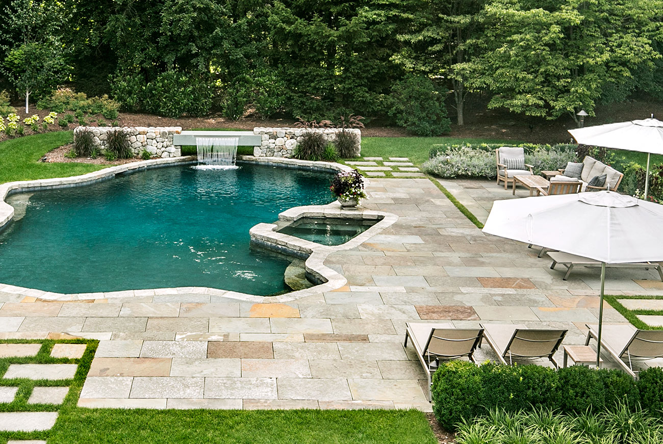 The LaurelRock Company - Residential Landscaping in CT - Hollow Tree Ridge - Poolside Paradise