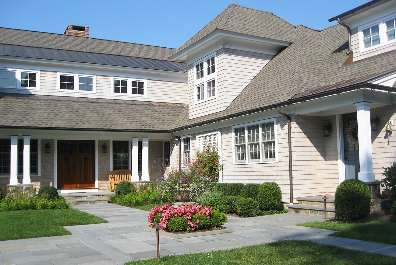 The LaurelRock Company - Residential Landscaping in CT - Sunset Ridge - Front Entry Landscaping