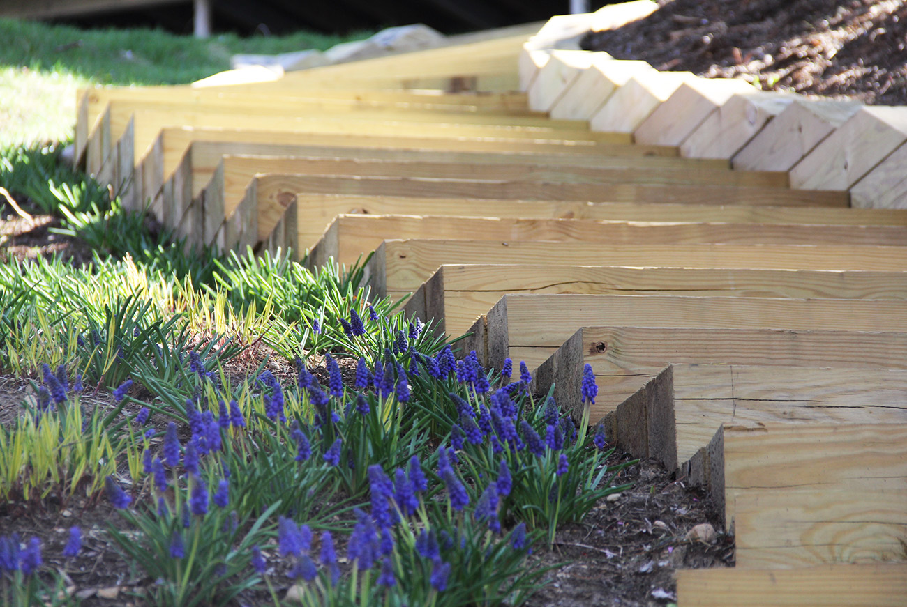 The LaurelRock Company - Residential Landscaping in CT - Sunset Ridge - Garden Stairs