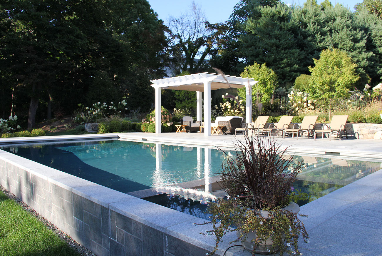 The LaurelRock Company - Residential Landscaping in CT - Sunset Ridge - Poolside Details