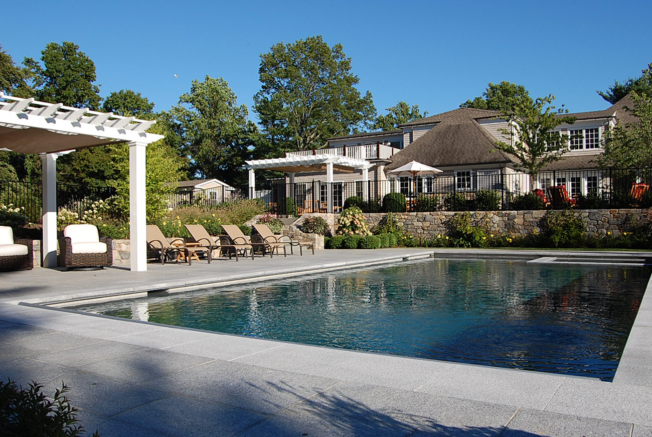 The LaurelRock Company - Residential Landscaping in CT - Sunset Ridge - Outdoor Living and Poolside Paradise